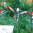 3 Hummingbird Christmas Ornaments Hand Beaded Fair Trade #54