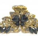 Hair Clip Jeweled Butterfly Black Elegant Hair Fashion New 04