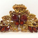 Hair Clip Jeweled Butterfly Brown Elegant Hair Fashion New 05