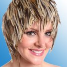 Wig Natural Badger Rooster Hackle Feathers Halloween Costume Punk Retro