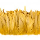 "1/4 lb Gold Rooster Coque Tail Feathers 6-8"" L Bleached & dyed"
