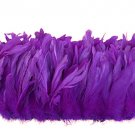 "1/4 lb Plum Purple Rooster Coque Tail Feathers 6-8"" L Bleached & dyed"