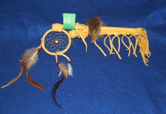 "10"" Dreamcatcher Coup Stick Native American Navajo Regalia SG#23"