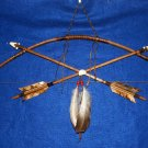 "27"" Navajo Bow & Crossed Arrows Wall Display w/ Rabbit Totem Little Scout 07"