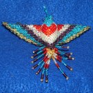 "4"" Hummingbird Barrette Beaded French Clip closure Fair trade beadwork #19"