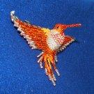 "4"" Hummingbird Barrette Beaded French Clip closure Fair trade beadwork #21"