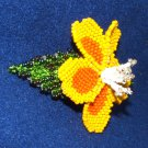 "Columbine Flower Hand Beaded Barrettes 4"" L French Clip Closure #11"