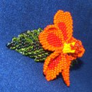 "Columbine Flower Hand Beaded Barrettes 4"" L French Clip Closure #12"