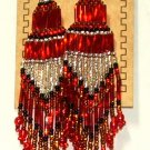 "Beaded Chandelier Earrings 4"" Length Regalia Pow wow Native American style L82"