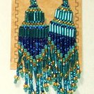 "Beaded Chandelier Earrings 4"" Length Regalia Pow wow Native American style L83"