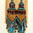 "Beaded Chandelier Earrings 4"" Length Regalia Pow wow Native American style L84"