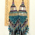 "Beaded Chandelier Earrings 4"" Length Regalia Pow wow Native American style L86"