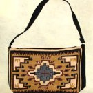 "Purse Handbag Southwest Geometric Design Cotton Canvas 13x19"" Zips"
