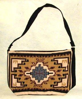 "Purse Handbag Southwest Geometric Design Cotton Canvas 13x19"" Zips"