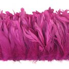 "1/4 lb Pink Rooster Coque Tail Feathers 6-8"" L Bleached & dyed"