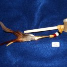 "4.5"" Antler Bowl Pipe w/ Bone Hairpipe Pipe Stem Native American made #42"