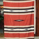 Mexican Blanket Throw Southwestern 5'x7' Rusty Brown
