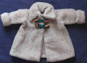Vintage Beige Wool Doll Coat Made in Germany Size 42