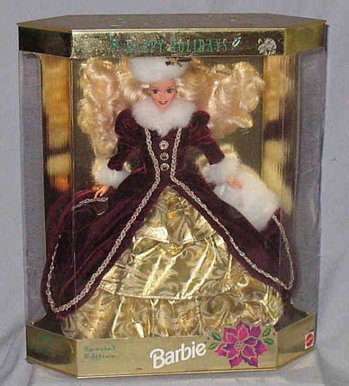 Special Edition 1996 4th Series Blonde Holiday Barbie MIB