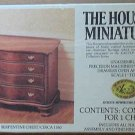 House of Miniatures Chippendale Serpentine Chest factory Sealed Kit #40050