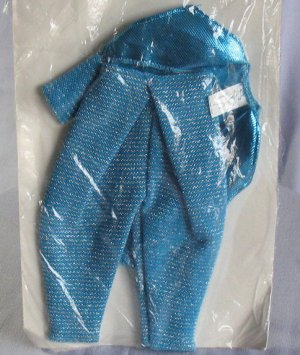 Mattel Mc Hammer Doll Outfit Blue Sparkle Pants Jacket