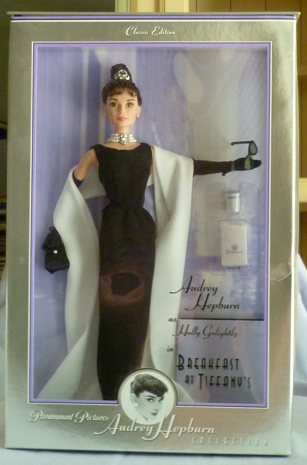 Audrey Hepburn Breakfast at Tiffany's in Givenchy Black Evening Gown Barbie Doll