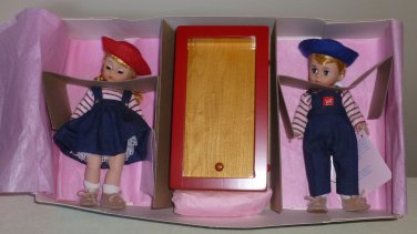 Madame Alexander Twin Dolls Diana and David FAO Schwartz Exclusive NIB