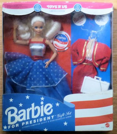 1991 Barbie for President Gift Set Toys 'R' Us Limited Edition NRFB