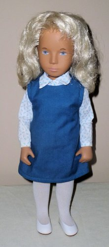 SASHA Blonde Doll 115S with Blue and White Tunic Oufit