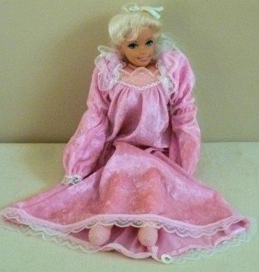 """Mattel PRETTY DREAMS Cloth Barbie Doll 18"""" 1995"""