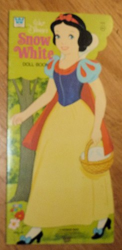 Vintage Whitman Walt Disney's Snow White Paper Dolls Uncut 1974