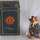 Boyds Darby Fuzzkins Cat Wound Tight Resin Ornament #271800 1E