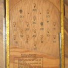 Vintage Wood Metal Working Miniature Bagatelle Game Cohn Inc NY