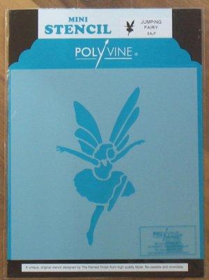 Polyvine The Painted Finish Mylar Mini Stencil JUMPING FAIRY NIP