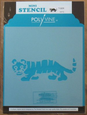 Polyvine The Painted Finish Mylar Mini Stencil TIGER NIP