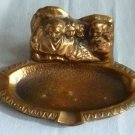 1940's Coppered Metal Mount Rushmore Souvenir Ashtray