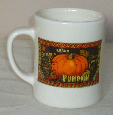Starbucks Golden Pumpkin Mug Coffee Cup Diner Style Barista 2003
