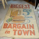Vintage Chatham Tag Along Beach Blanket Throw 45X72