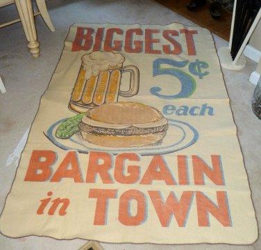 Vintage Chatham Tag Along Beach Blanket Throw 45X72