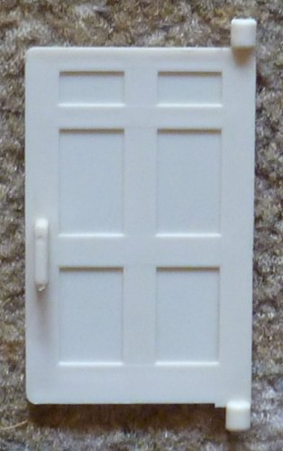 White Replacement Door for Fisher Price Yellow House #952