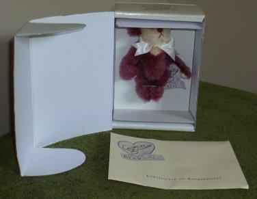 Annette Funicello Limited Edition Raspbeary fizz Bean Bag Bear MIB