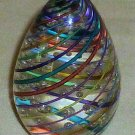 Multi-color Small 3 Inch Egg Shaped Paperweight