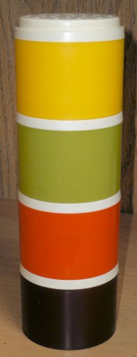 Vintage Tupperware Four Piece 2 Inch Stackable Spice Containers