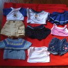 Build A Bear BAB Girls Clothing 9 Pieces Shorts Tops Sweater