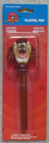 Vintage Warner Looney Tunes Comical TAZ  Ball Point Pen New in Package 1998