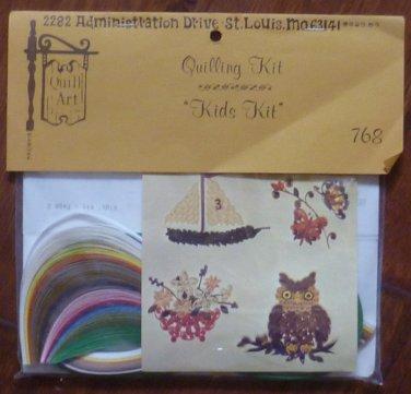 Vintage Quill Art Quill Kit #768 Kids Kit Owl Plants Ship 1977 NIP