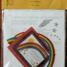 Vintage Quill Art Quill Kit #927 Rainbow Picture 8X10 NIP