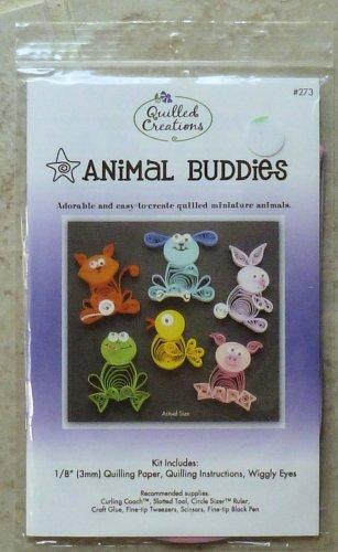 "Quilled Creations Miniature 1"" Animal Buddies Kit #273 NIP 2008"