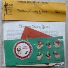 Vintage Quill Art Quill Kit #961  6 Christmas Country Geese NIP