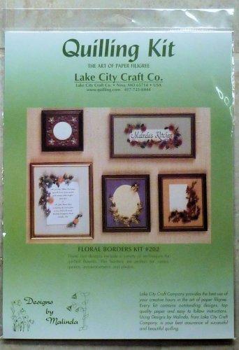 Lake City Craft Designs by Malinda #202  Floral Borders kit  1992 NIP